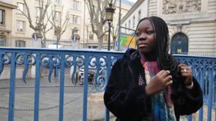 Rachel Mwanza en promotion à Paris