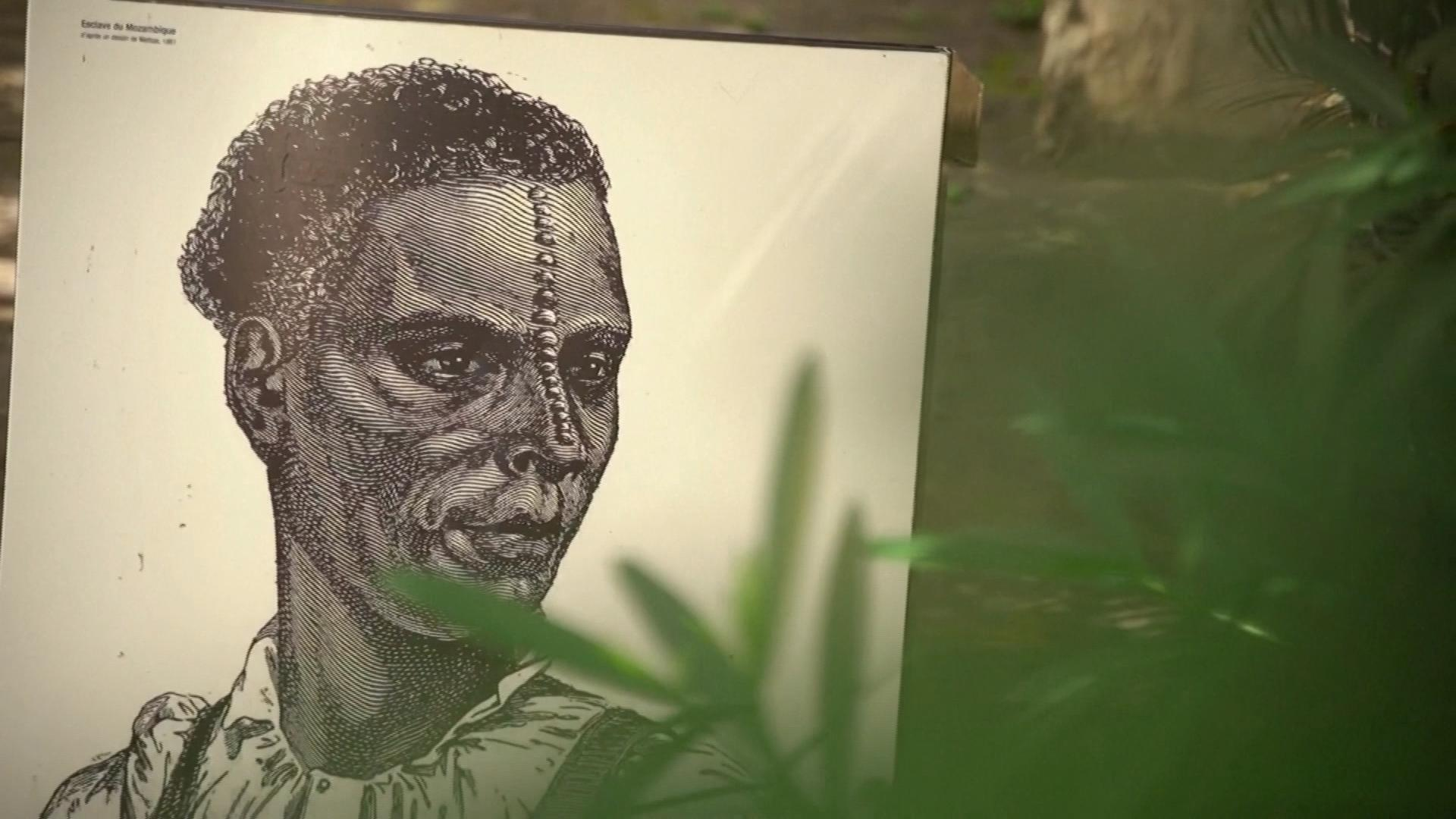 Tribute to the slaves on the island of Reunion