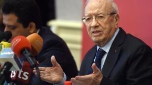 رئيس حزب نداء تونس الباجي قائد السبسي