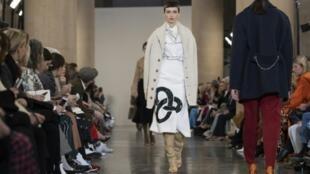 British designer Victoria Beckham returned to Britain for a show at London Fashion Week