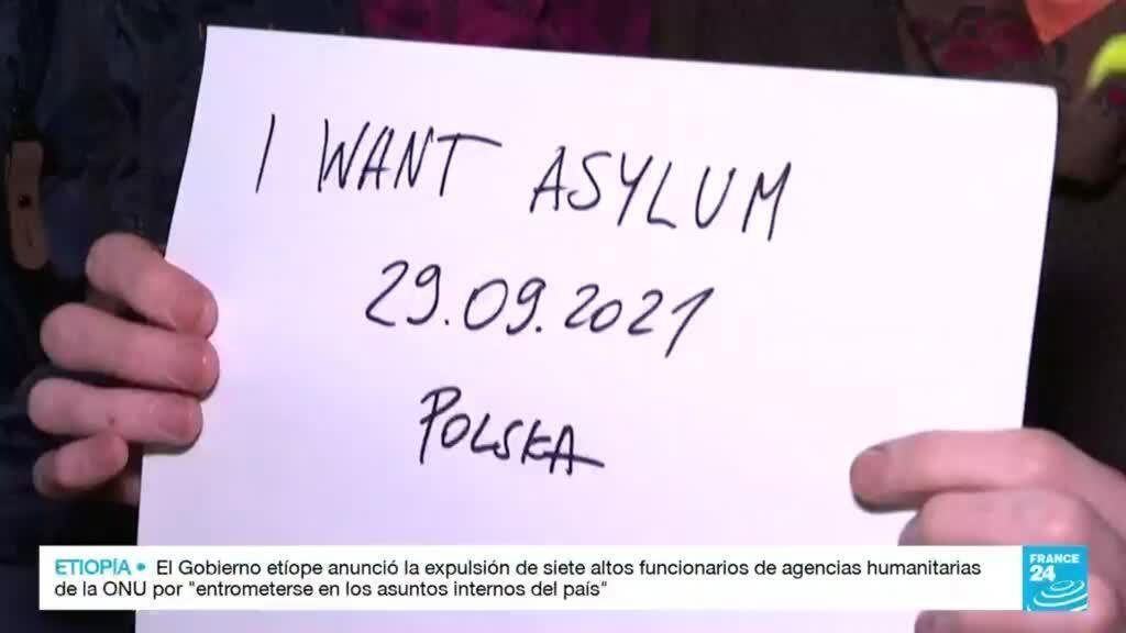 2021-10-01 03:40 Miles de migrantes en la frontera entre Belarús y Polonia intentan llegar a la Unión Europea