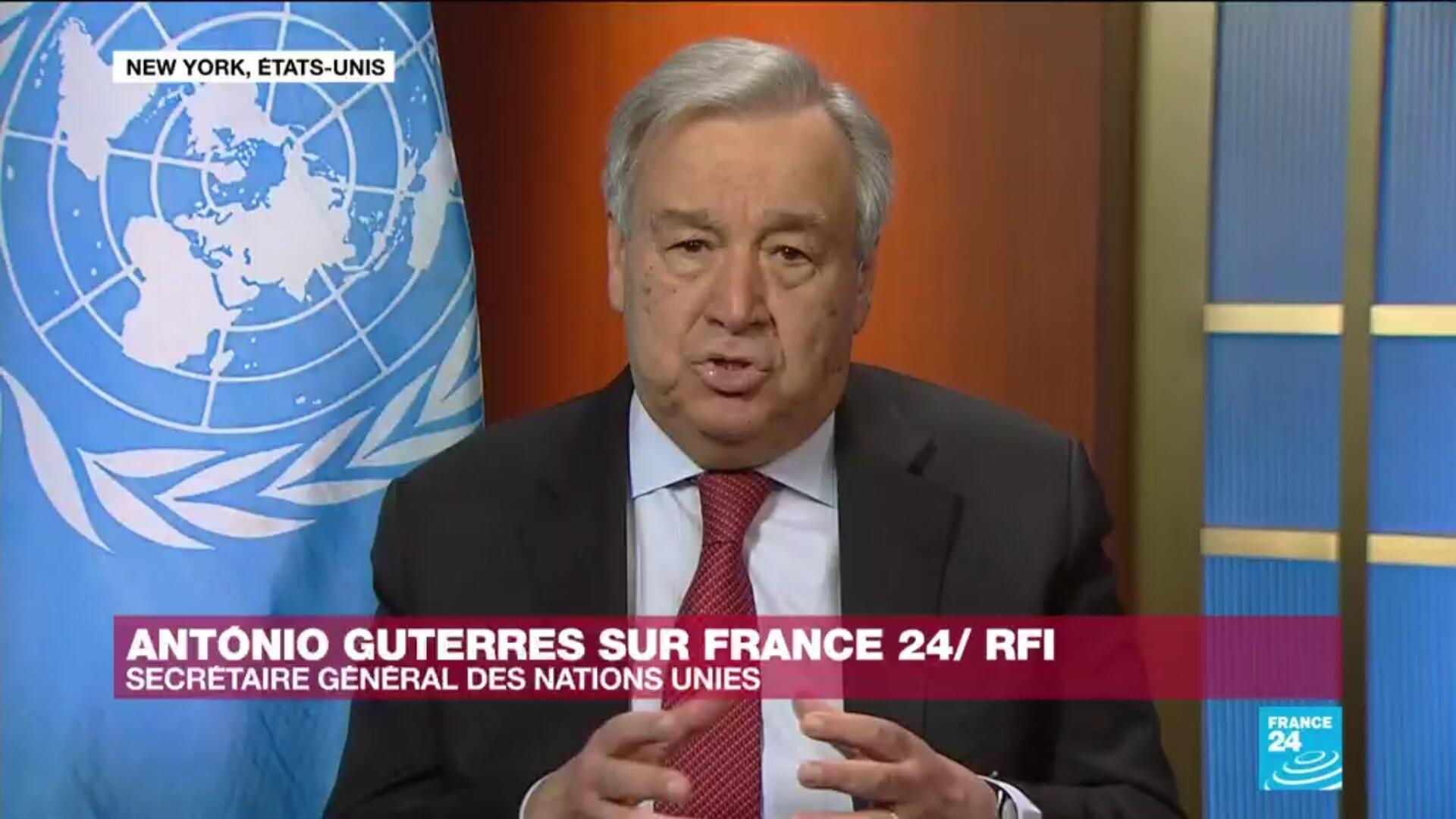 Guterres ONU cornavirus entretien