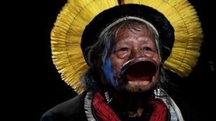 Le chef indigène brésilien Raoni Metuktire du peuple Kayapo, le 28 mai 2019.