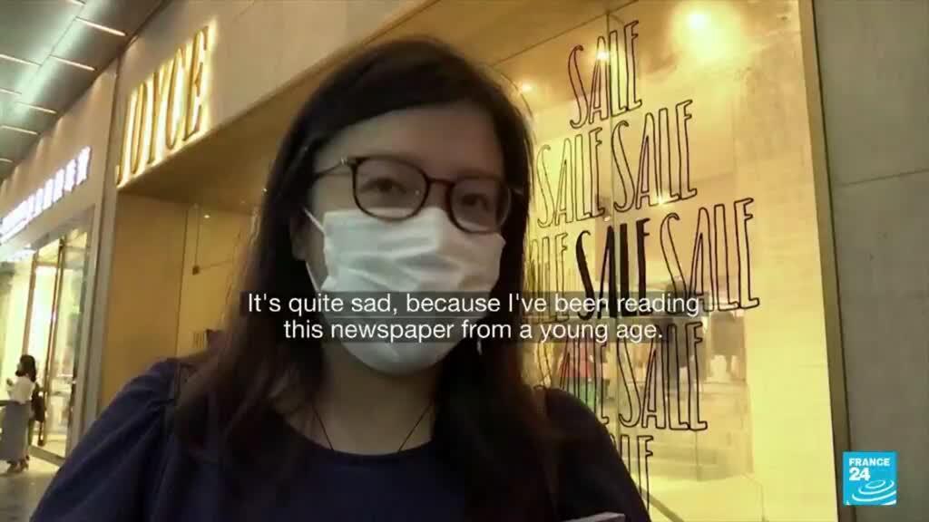 2021-06-23 18:24 Hong Kong pro-democracy paper Apple Daily prints final run