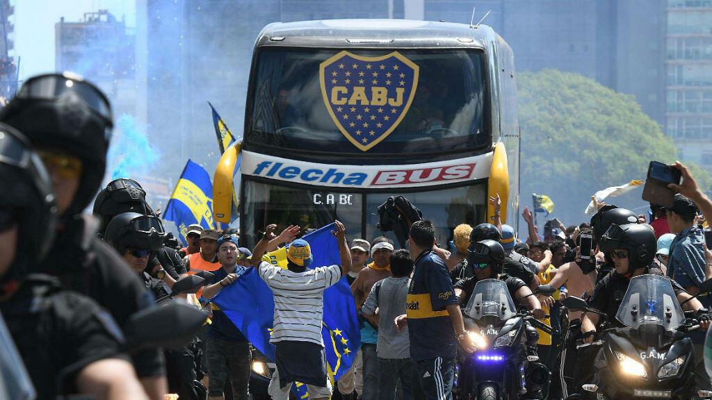 Le bus des joueurs de Boca Juniors a été attaqué par des supporters de River Plate, le 24 novembre 2018.