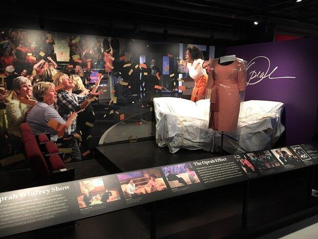 American talk show host Oprah Winfrey has her own exhibit at the museum.