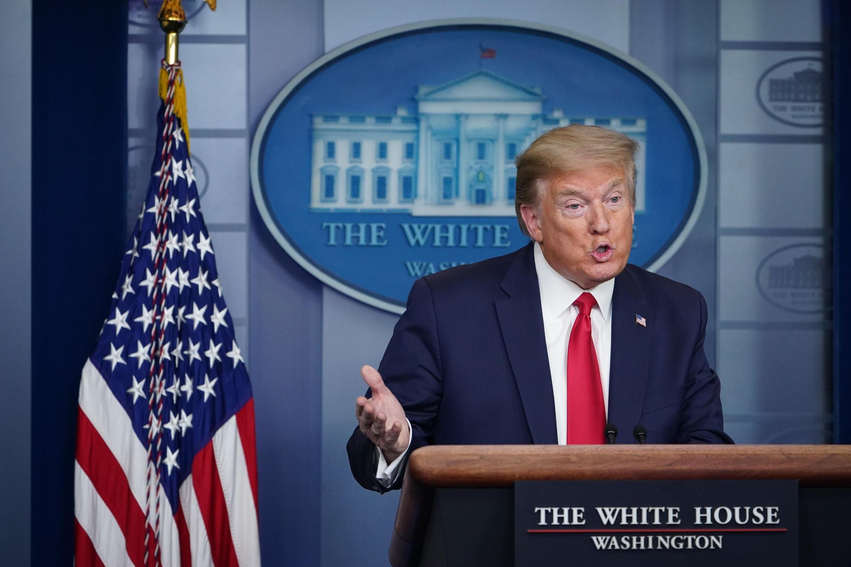 Donald Trump, à la maison-blanche, le 22 avril 2020.