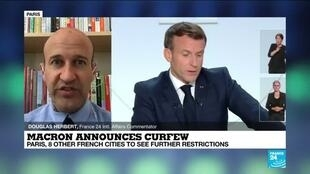 2020-10-15 11:02 Macron announces curfew: Paris, 8 other french cities to see further restrictions