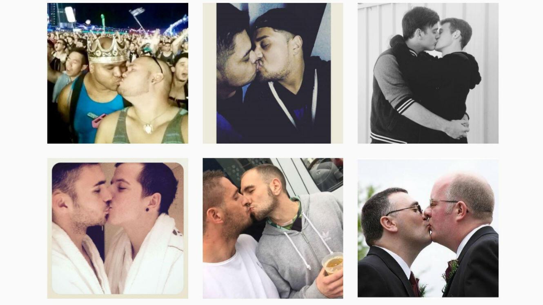 Contre l'homophobie, le hashtag #TwoMenKissing (deux hommes s'embrassent) a émergé sur les réseaux sociaux.