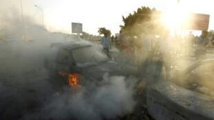 انفجار سيارة مفخخة خلال مظاهرة في بنغازي، الجمعة 16 أيلول/سبتمبر 2016
