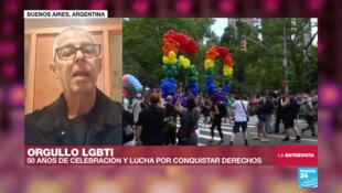César Cigliutti, presidente de la Comunidad Homosexual Argentina (CHA).