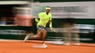L'Espagnol Radael Nadal lors de la finale de Roland-Garros face à Dominic Thiem, le 9 juin 2019