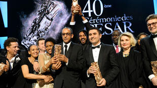 """L'équipe du film """"Timbuktu"""" qui a récolté sept récompenses lors de la 40e cérémonie des César."""