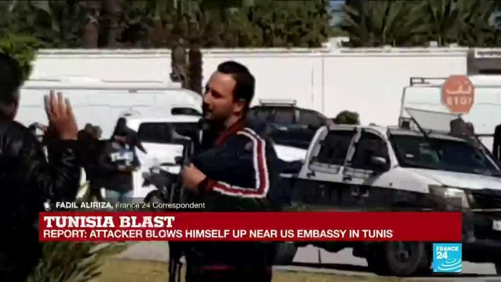 2020-03-06 12:01 Tunisia: Suspected terror attack near the US embassy in Tunis