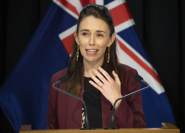 La primera ministra de Nueva Zelanda, Jacinda Ardern, informa a los medios de comunicación sobre el estado del Covid-19 en el país. Wellington, Nueva Zelanda, el 27 de abril de 2020.