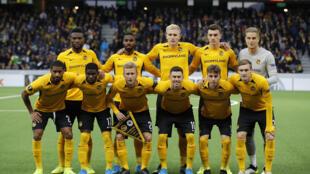 Les joueurs du club suisse des Young Boys de Berne, lors d'un match de Ligue Europa contre les Glasgow Rangers, le 3 octobre 2019 à Berne