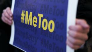 Manifestation contre les violences faites aux femmes, le 25 janvier à Washington, aux États-Unis.