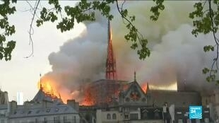 2020-07-10 10:13 Notre-Dame Cathedral to be restored exactly as it was before April 2019 fire, spire included