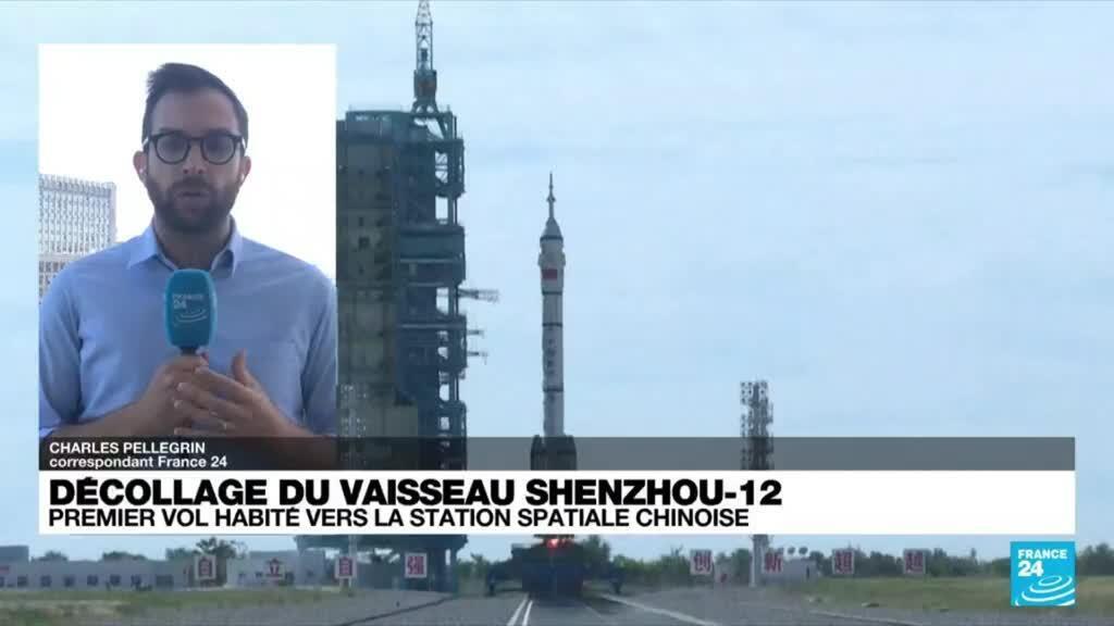 2021-06-17 07:34 Décollage de la première mission habitée vers la station spatiale chinoise