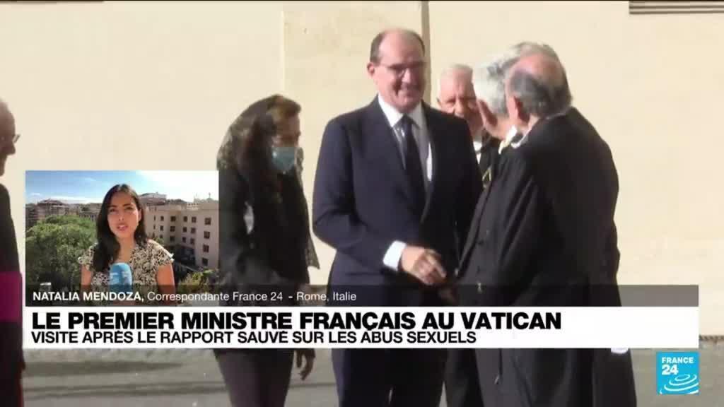 """2021-10-18 13:37 Jean Castex au Vatican : """"Le rapport Sauvé évoqué pendant la rencontre"""""""