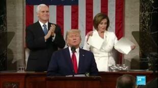 2020-02-05 09:02 Discours sur l'état de l'Union : Donald Trump vante les mérites de son mandat