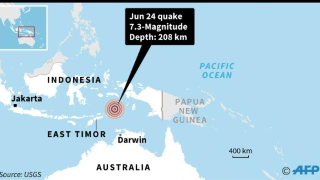 Map Darwin Australia.Powerful Indonesian Quake Felt In Australia