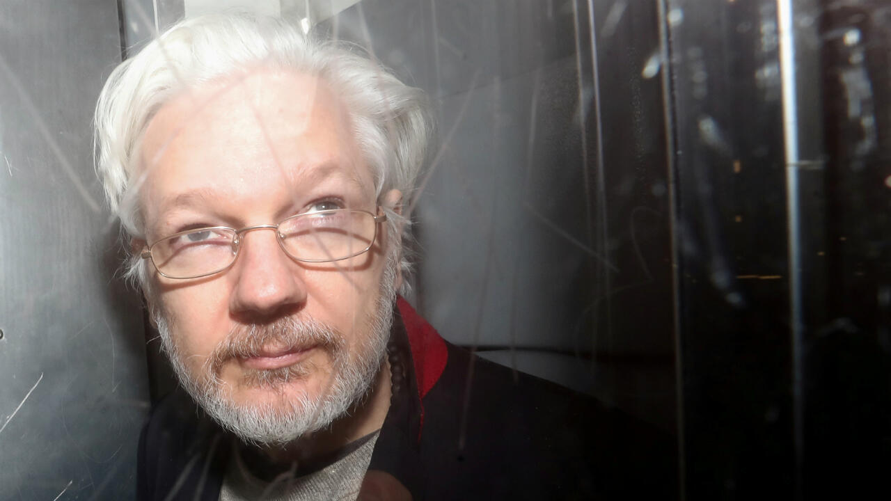 WikiLeaks' founder Julian Assange leaves Westminster Magistrates Court in London, Britain, on January 13, 2020.