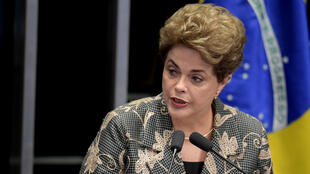 Dilma Rousseff devant les sénateurs, le 29 août 2016.