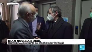 2021-02-21 16:36 Iran nuclear deal: Tehran demands US lift all sanctions before talks