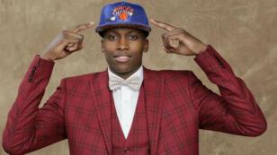 Steve Freeman / NBAE / Getty Images / AFP   French basketball player Frank Ntilikina.