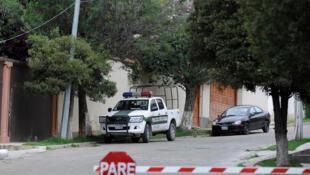 سيارة شرطة في لاباز