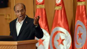 Le président tunisien Moncef Marzouki, lors d'une cérémonie en juin 2014.