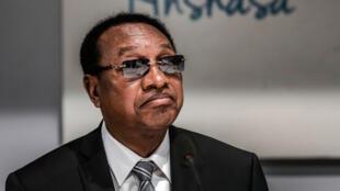 Bruno Tshibala, le 20 décembre 2018, alors toujours Premier ministre de la République démocratique du Congo, assiste à une réunion à l'Assemblée nationale, à Kinshasa.