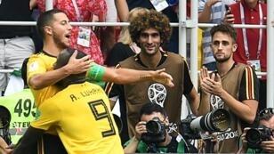 رجل المباراة إدين هازار، صاحب هدفين أمام تونس. 2018/06/23
