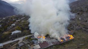 NAGORNO-KARABAKH BURNING HOUSES