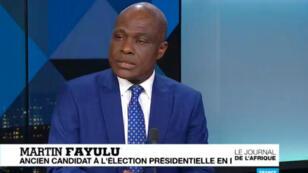 L'opposant Martin Fayulu, candidat malheureux à la présidentielle en République démocratique du Congo, était l'invité de France 24 mercredi 20 mars sur France 24.