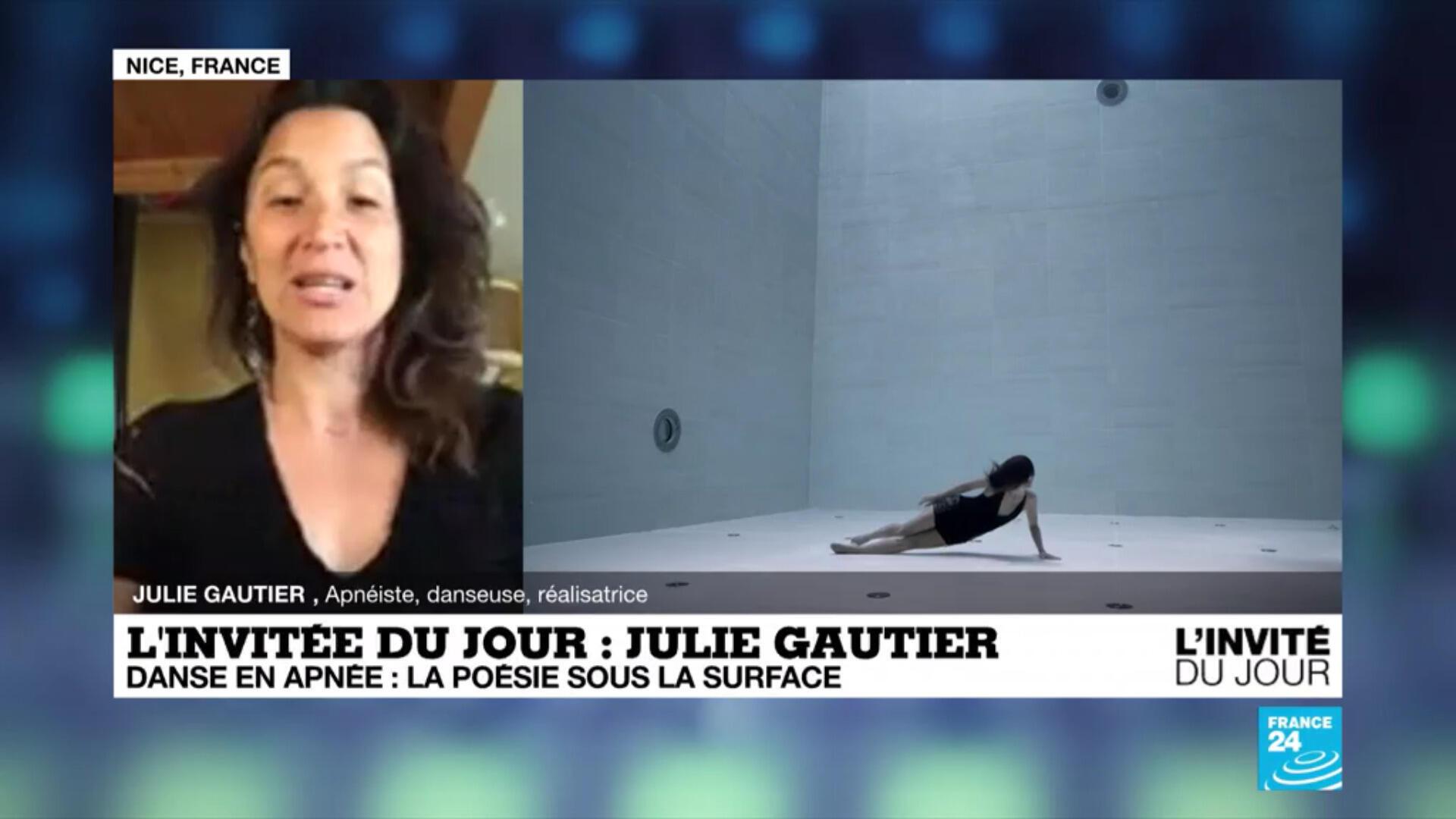 Julie Gautier est apnésite et réalisatrice