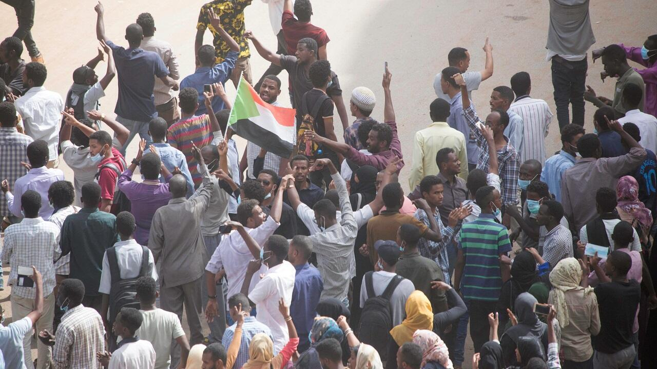 مظاهرة في الخرطوم ضد الحكومة السودانية 7 فبراير/شباط 2019