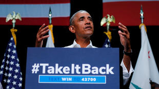 El expresidente de los EE. UU., Barack Obama, participó en un mitin político del Partido Demócrata en Anaheim, California, durante un evento en Anaheim, California, EE.UU, el 8 de septiembre de 2018.