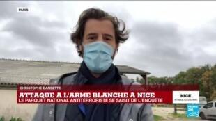 2020-10-29 12:03 Attaque au couteau à Nice : le parquet antiterroriste ouvre une enquête