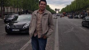 يزن طالب فلسطيني من سوريا في جامعة باريس 7 يدرس هندسة الاتصالات