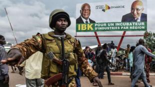 Dans les rues de Bamako, le 27 juillet 2018.