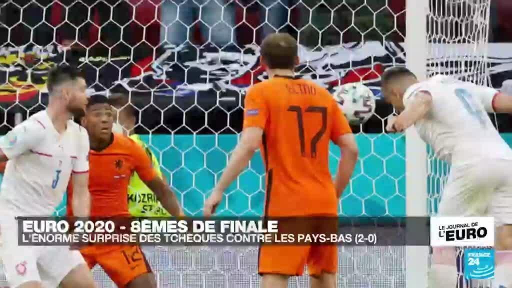 2021-06-27 23:51 Euro 2020 : la République tchèque surprend les Pays-Bas (2-0) et file en quarts de finale