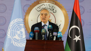 Ghassam Salamé, envoyé spécial de l'ONU pour la Libye, à Tripoli, le 6 avril2019.