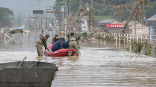 Raft was often the only way to reach stranded people