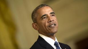 """Barack Obama estime que le candidat Donald Trump """"n'est pas qualifié  pour être président""""."""
