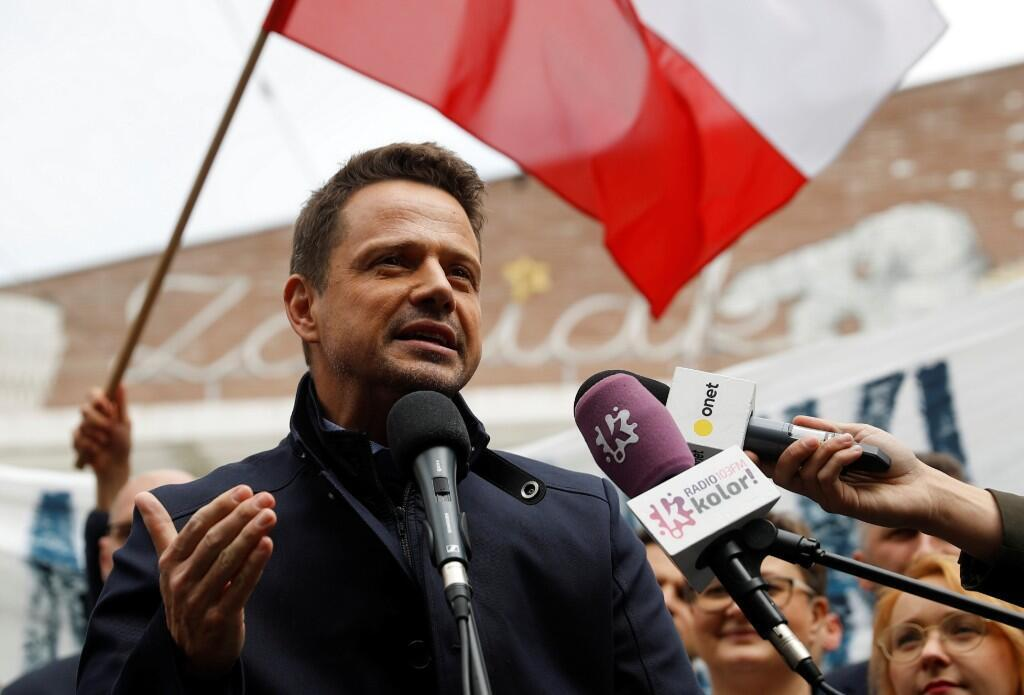 El alcalde de Varsovia y candidato presidencial del partido de la Plataforma Cívica (PO), Rafal Trzaskowski. Varsovia, Polonia. 3 de junio de 2020.