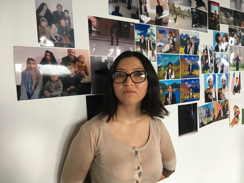La plasticienne Kubra Khademi dans son studio de la Fondation Fiminco, le 19 mars 2021.