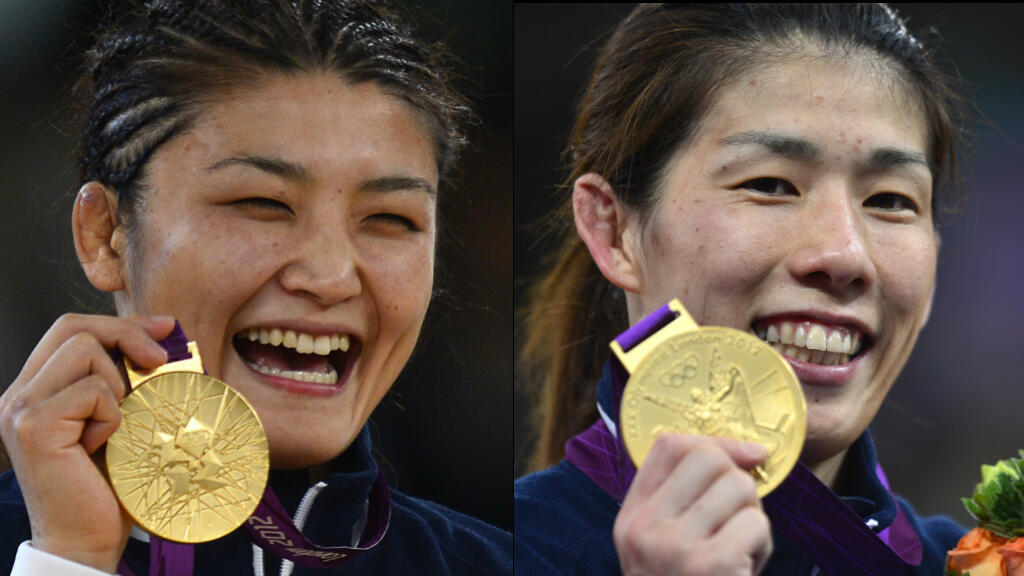 Kaori Icho (à gauche) et Saori Yoshida (à droite) pourraient remporter leur 4e médaille d'or à Rio.