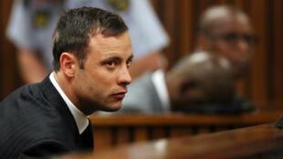 Oscar Pistorius lors de son procès, le 12 septembre 2014, à Pretoria.